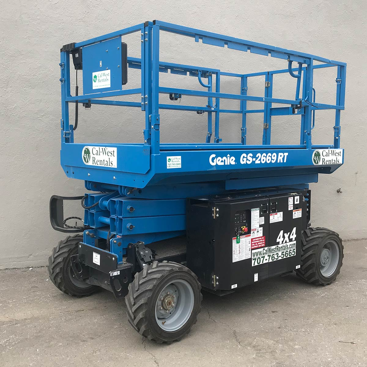 Scissor Lift Rough Terrain 26 Cal West Rentals