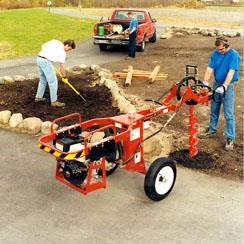 Towable Hydraulic Auger Cal West Rentals
