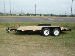 16 Foot Long Flatbed Trailer - 1