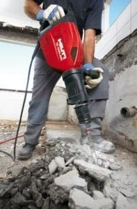 Electric Jack Hammer Breaking Concrete