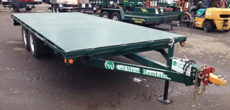 Flatbed Trailer, 8 ft. X 18 ft - 1