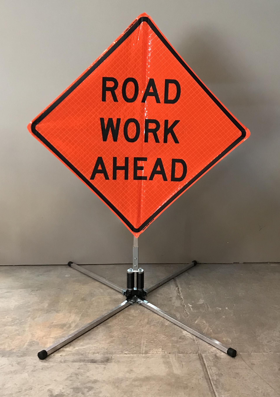 Traffic Control Sign Road Work Ahead Cal West Rentals